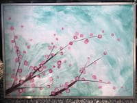 Large original framed cherry blossom painting Los Angeles, 91601