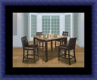 brown wooden dining table set Adelphi