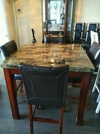 table with 4 high chairs Pickering