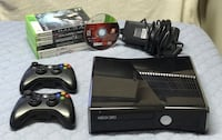 Xbox 360 Slim 250gb with 2 Controllers and Games plus all wires.Pick up ONLY Brampton, L6Y 4G6