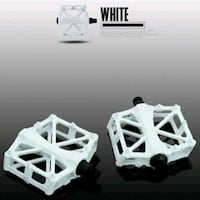 bicycle pedals white