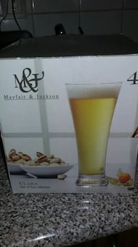 Beer glasses set of 4.