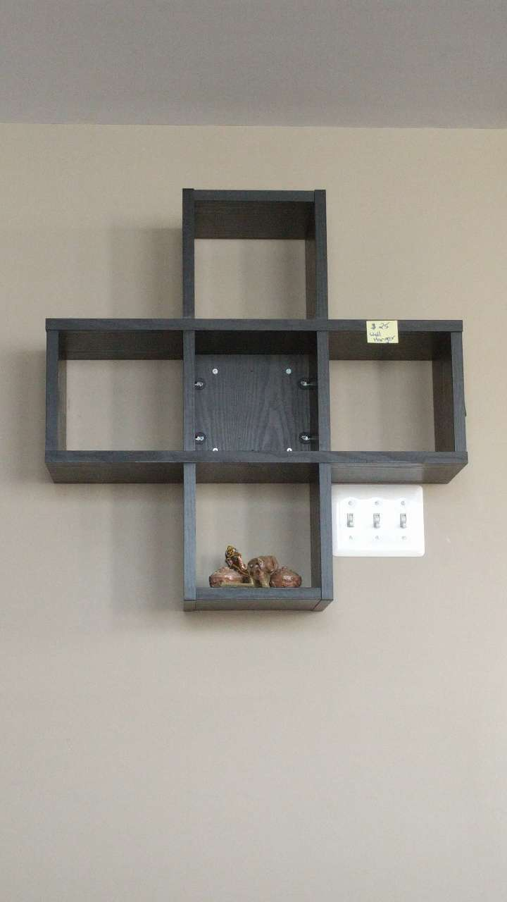 used black wooden cross cube wall shelves for sale in jersey city rh us letgo com