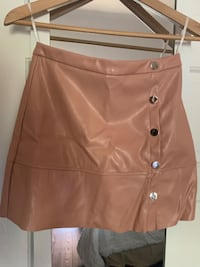 Leather skirt color nude