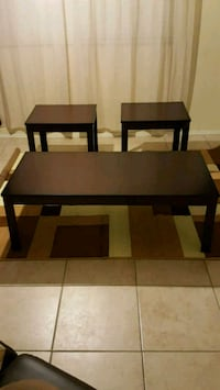 3pc coffee table set brand new