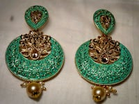 two green and brown gemstone embellished earrings Baltimore, 21244
