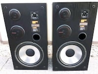 two black and gray speakers London, N6E 1A1