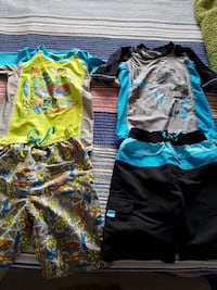 Swim shorts and UV swim shirt