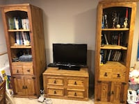 Three Piece Entertainment Center (Solid Wood) - Centreville, Va Springfield