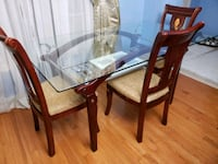 Glass Table with Chairs  Markham, L6E