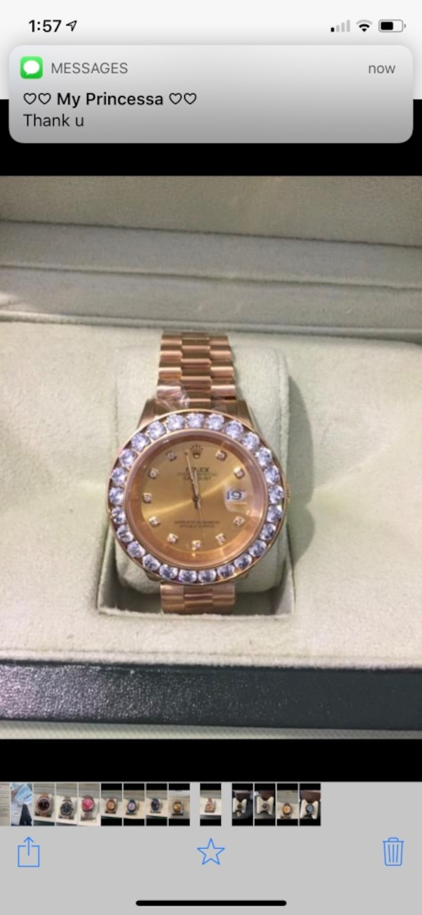 696c5aec83c8 Used Round silver rolex analog watch with silver link bracelet for sale in  Miami Gardens - letgo