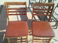 two brown wooden armless chairs Clovis, 93612