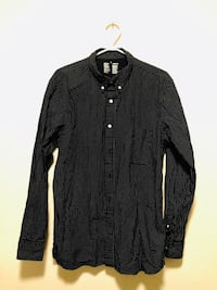 Black Polka Dot Button Up Shirt Size Large Toronto, M5T 1C7