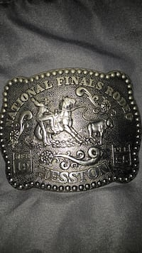 1985 Nationals final rodeo belt buckle