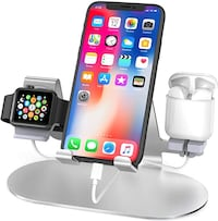 3 in 1 Aluminum Charging Stand for Apple Watch - New