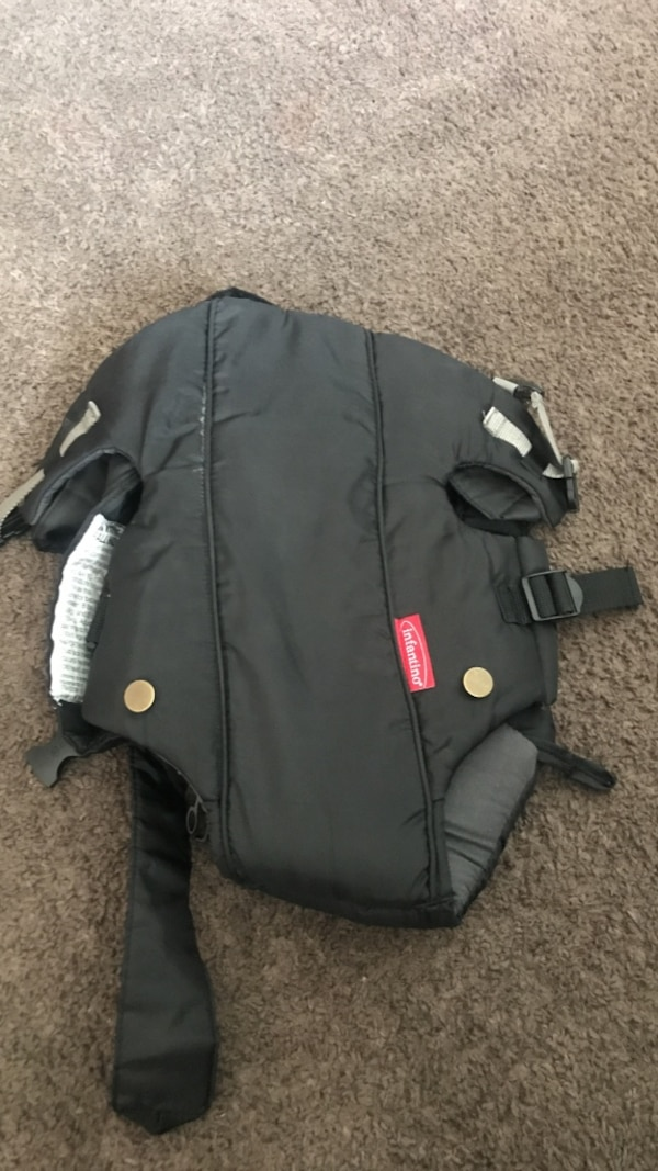baby's black breathable carrier