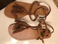 Fringe Brown Strappy Sandals  West Grove, 19390