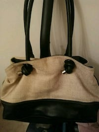 brown and black leather tote bag Des Moines, 50321