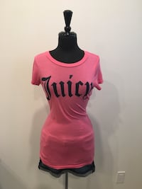 New juicy couture logo rhinestone top size M Oakville, T1Y