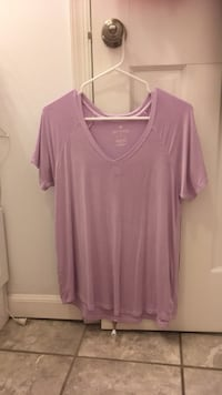 Purple v-neck t-shirt Springfield, 22153
