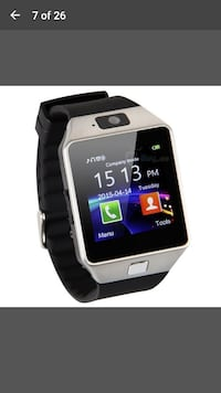 silver-colored and black Veezy Gear smart watch sc West Valley City