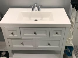 Bathroom sink and counter combo