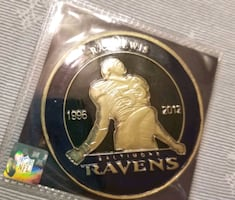 Baltimore ravens ray lewis collectors coin