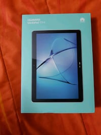 black tablet computer with box