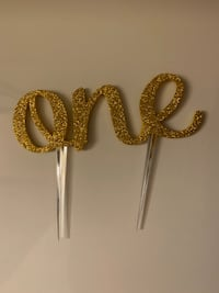 Number ONE for first birthday/anniversary cake topper  Toronto, M2N 6G9