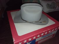 white and gray leather bucket hat Sugar Land