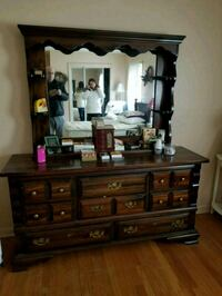 brown wooden dresser with mirror Suffern, 10901