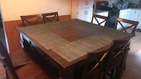 rectangular brown wooden table with six chairs dining set Wallkill, 10940