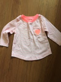white and pink striped long-sleeved shirt Ajax, L1S 6Z2