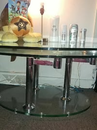 Glass butterfly coffee table