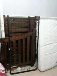 brown wooden bed frame with mattress Rahway, 07065