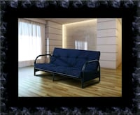 Black futon frame with mattress Ashburn