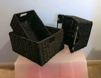 Wicker Tight-Nub Weave Baskets