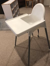 white wooden folding table with black metal base Rockville, 20853