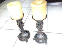 two brass base table lamps FORTLAUDERDALE