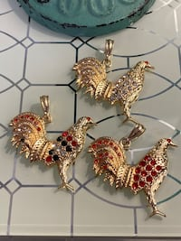 14k Gold Plated Rooster Pendant