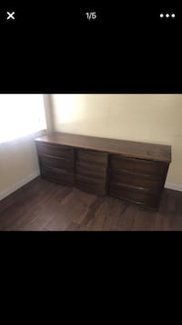 brown wooden 6-drawer lowboy dresser Mesa, 85210