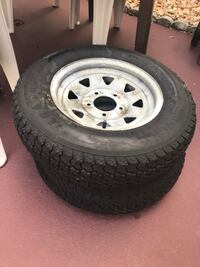 2 Tires and rims for trailer.  ST175/80D13 Indian Harbour Beach, 32937
