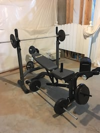 black and gray bench press Woodbridge, 22191