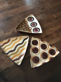 3 triangle marble plate