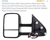 Towing mirrors for Chevy or GMC.  Brand new still in box  Bakersfield, 93314