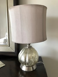 silver-colored base white shade table lamp Coral Gables, 33146