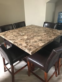 rectangular brown marble top table with chairs Phoenix, 85018