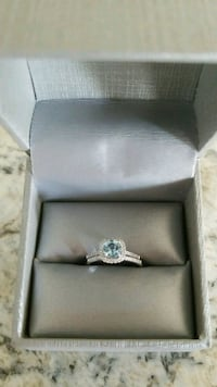silver-colored with blue gemstone Maurice, 70555