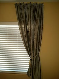 gray floral window curtain