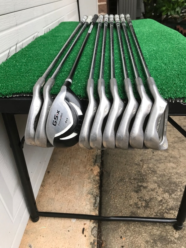 Nine (9) Club Hybrid / Iron Golf Set, 2 thru PW, Stiff & Optiflex 0dc66bcc-2f9f-4000-8379-8b20f6ff9eab